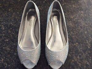 Silver bridal/bridesmaid flats