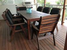 Quality 9 piece Kwila OUTDOOR DINING SETTING. Hawthorne Brisbane South East Preview