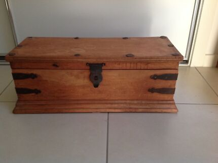 Vintage rustic shabby timber wood crate box trunk | Other Home Decor ...