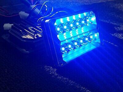 Blue Whelen 400 Series Freedom Super Bright Led Lighthead Police Light Bar 6x6ra