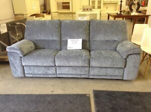 New blue sofa recliner at Waterloo restore