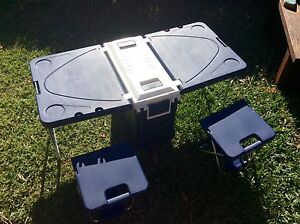 Foldable picnic table rolling esky 2 chairs in great condition Regents Park Auburn Area Preview