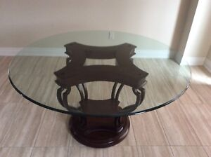 Bombay Company  Glass Table