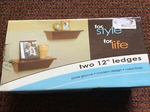 """Two shelf each 12"""" long with ledges plate groove $10"""