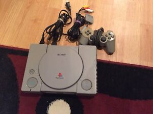 Ps1 original PlayStation system with cords and controller