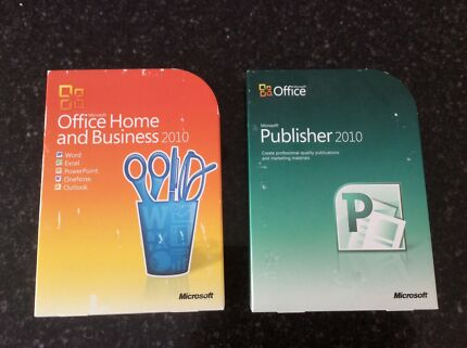 Microsoft office Home and Business plus Publisher 2010
