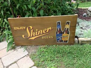 Advertising sign,Shiner Beers