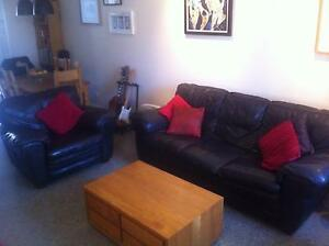 Beautiful Italian Leather Three-Seater Sofa and Armchair Erskineville Inner Sydney Preview