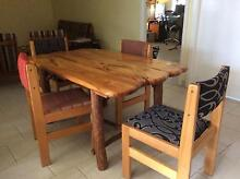 Hard wood rustic dining table Marrickville Marrickville Area Preview