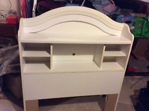 White twin bed head board excellent condition