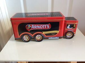 Arnott's Biscuit Tin Red Truck Shape A-142 West Launceston Launceston Area Preview