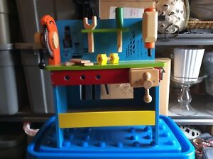 Solid Wood Toddlers Work Bench