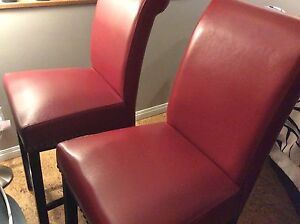 Red Bar Stools x2