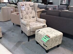 Scripture Wing Chair and Ottoman Epping Whittlesea Area Preview