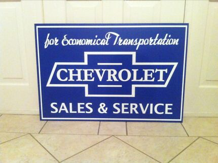 Chevrolet sales and service reproduction sign Melton West Melton Area Preview