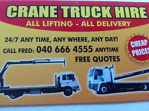 24/7 day crane truck hire cheap price Bankstown Bankstown Area Preview