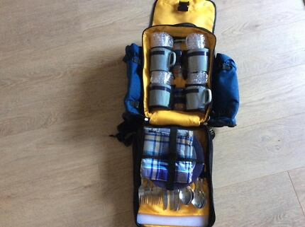 Picnic backpack 4 person- blue