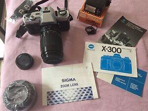 Minolta  X300 SLR camera + lens Gymea Bay Sutherland Area Preview