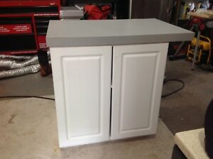Cabinet and countertop
