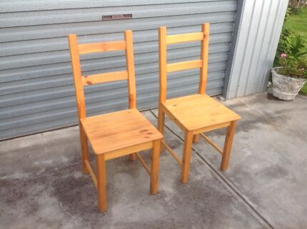 Attractive Pair Of Nice Kitchen Or Misc Chairs Part 8