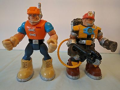 Fisher Price Rescue Heroes Figures accessories Lot of 2  2001 2002
