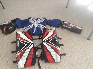 Kids road hockey goalie equipment