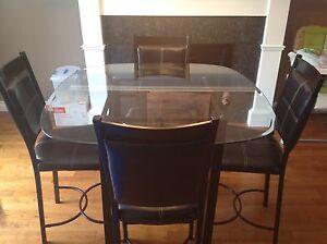 Glass Pub Table set