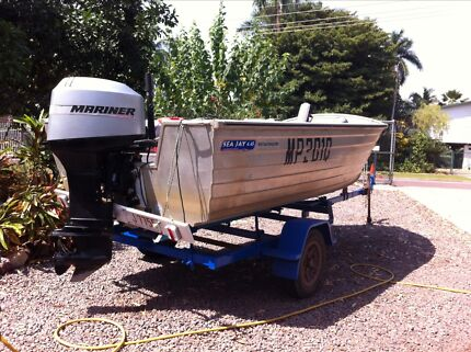 4.45m Stacer and 40hp mariner Moil Darwin City Preview