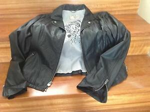 Genuine Guess black faux leather jacket Dianella Stirling Area Preview