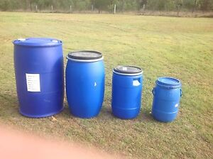 Blue plastic drums Glenwood Fraser Coast Preview