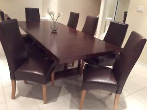 "Dining table 42"" X 96"" and 8 chairs"