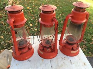 Kerosene oil lamps - classic red