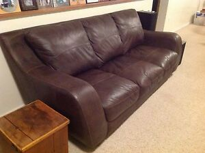 Beautiful Leather Comfy Couch