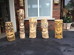 Tiki chainsaw carvingd