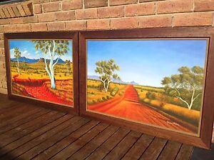 2 Oil on Canvas Paintings Cygnet Huon Valley Preview