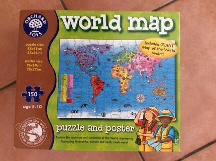 1000 piece jigsaw of australia map inc 34 aussie images 73cm x orchard toys world map jigsaw gumiabroncs Choice Image