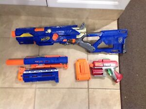 Nerf rifle gun combo lot