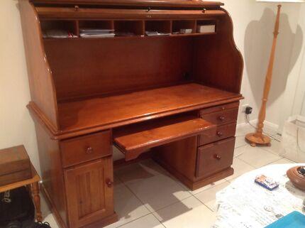 Roll Top Wooden Desk