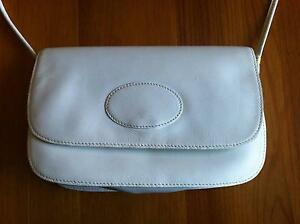 White Leather Handbag Hamersley Stirling Area Preview