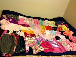 6/9m,6/12months baby girl clothes (60 pieces)