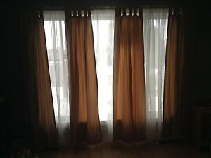 Curtains for picture window