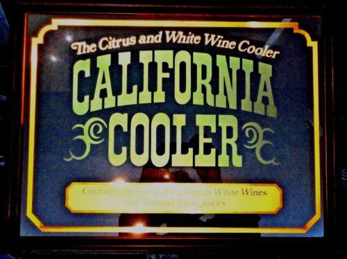 California Cooler Lighted Mirror Bar Sign Wine Cooler Advertisment 80