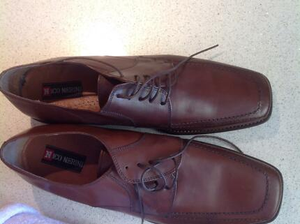 Never worn size 46 Italian nico nerini brown shoes Coorparoo Brisbane South East Preview