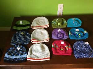 Hand Knitted Winter Bun Hats