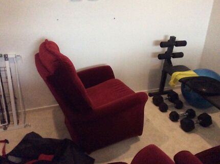 Two seater lounge and two chairs