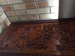 Wooden Chinese pattern camphor chest Norman Gardens Rockhampton City Preview