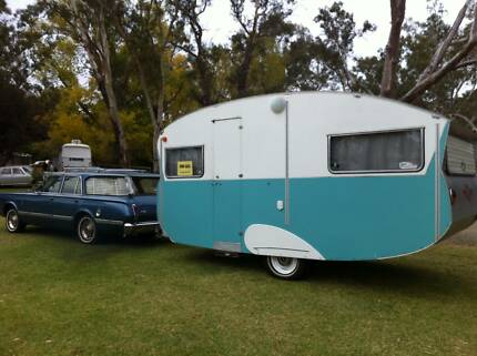 Restored Globe Trotter Gold Coaster Vintage Caravan Hope Valley Tea Tree Gully Area Preview