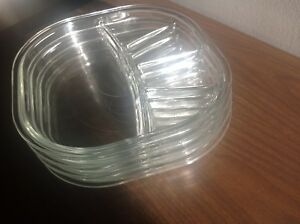 Glass Fondue plates or appetizer dishes