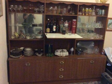 glass wall unit in Newcastle Region, NSW   Cabinets   Gumtree ...