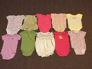 10 Baby Girl Onesies (Lot 2)